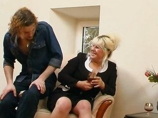 Mature fucked at the end of one's tether young learn of
