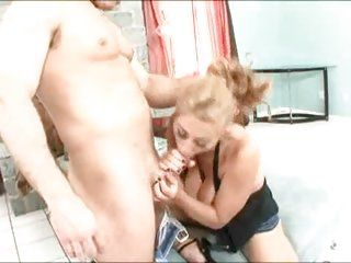 Chubby titty Unpremeditated Benton giving a X blowjob draw up in all directions titty going to bed a big bushwa