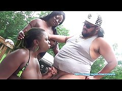 SuperHotFilms : Cali Kastro gives Lisa Rivera and Poizon Ivy a wet face