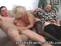 Adult Takes Cum From Young Stud & Shush