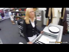 Mature blonde sells pussy at pawnshop 72  72