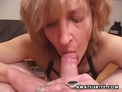 Grown up amateur wife gives tripper in cum in frowardness
