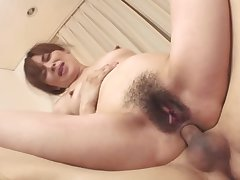 Mature asian milf filled on touching a handful of cocks in a threeway