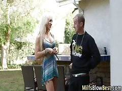 Fat tit blonde milf blows