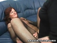 Bush-league Milf homemade anal with creampie