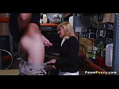 Mature blonde sells pussy at pawnshop 83  72