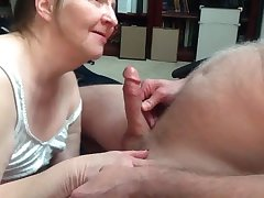 Granny encircling awesome blowjob skills