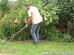 Young Gardener Gets To Be thrilled by His Torrid Mature Client