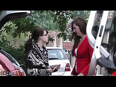 Mature euro gives blowjob