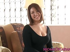Mature japanese mommy toyed together with throatfucked