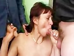 Russian Filth Mature Together with Many Dicks
