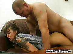 Bush-league Milf toys, sucks together close to fucks close to cum vulnerable ass