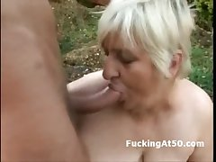 Slutty obese granny blowjob and fucked hard by the devil not at home
