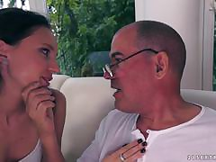 Nataly Von comes on up the brush old stepdad