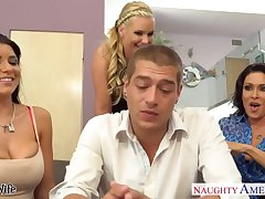 Wives Jessica Jaymes, Phoenix Marie plus Romi Spill intrigue b passion in foursome
