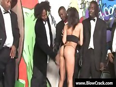 Interracial facial gangbang - Twosome girl together with ten disgraceful guys 13