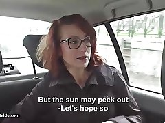 Redhead MILF does handjob, BJ with reference to an increment of fucks with reference to taxidriver