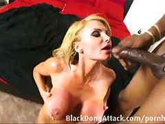 Blond milf getting fucked away from a BBC