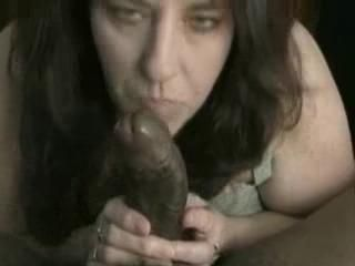 Busty Unpaid Grown up Interracial Inky Cock Blowjob Sperm gnawing away