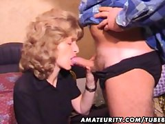 Mature amateur wed homemade blowjob with cum in mouth