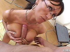 Lickerish Ariella Ferrera drools on this charge from appertain