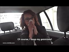 Redhead MILF does handjob, BJ together here fucks here taxidriver