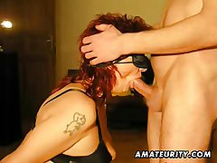 Redhead layman Milf sucks and fucks with cumshot