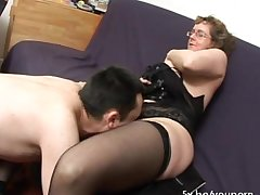 French of age Francoise fucked in threesome