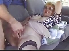 Outdoor grown up lady loves Dogging