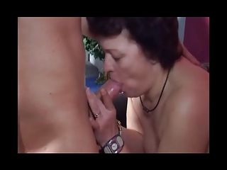 Pock-marked Milf Sucks and Fucks