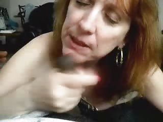 Mature Sucking Cock coupled with Cum