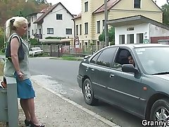 Young lady's man picks up and bangs retribution granny