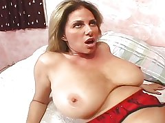 comely mature sucks and fucks a load of shit