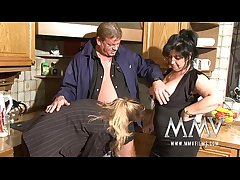 MMV Films Two grown-up wifes sharing a cock