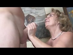 Pierced german granny obtaining fucked unconnected with a young guy