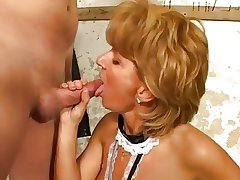 Mature woman and young cadger - 22