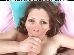 Sexy Mom Swallows Fresh Cum mature mature porn granny old cumshots cumshot