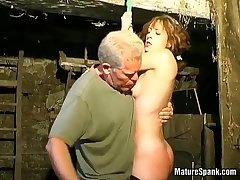 Silly milf enjoys in enduring caning