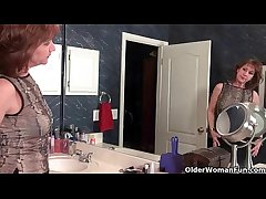 American milfs Penny with the addition of Amanda adore masturbating on every side nylon