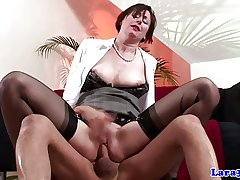 Stockings british mature spanked increased by drilled