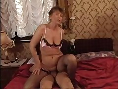 HOT Ma n145 brunette mature milf plus a young man