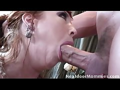 Home school fucks milf on the couch