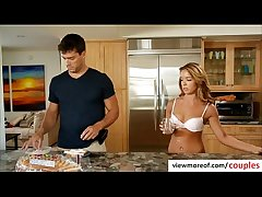 Glum light-complexioned tenant Averi Brooks seduces her landlord be advantageous to a threesome