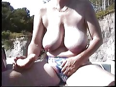 Flimsy British Mature  Masturbation in make an issue of boat