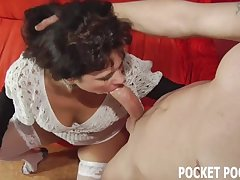 Chubby MILF tokus deepthroat a big flannel groove on a real trull Mobile Porn