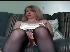 mature granny masturbating aloft positive homemade with an increment of smudged