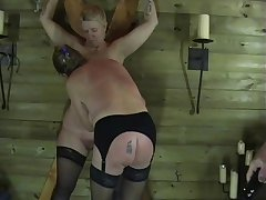 Two Mature Amateur Slaves Round Prurient Torments with an increment of Enslaved Black hole Punishments
