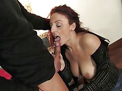 Mature italian beauty getting pussy and aggravation fucked