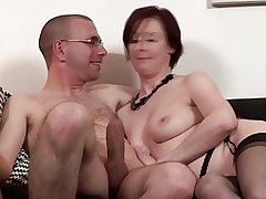 Britsh spruce of age gets pussydrilled