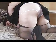 Busty Fat Assed Victorian Mature BBW Spreads